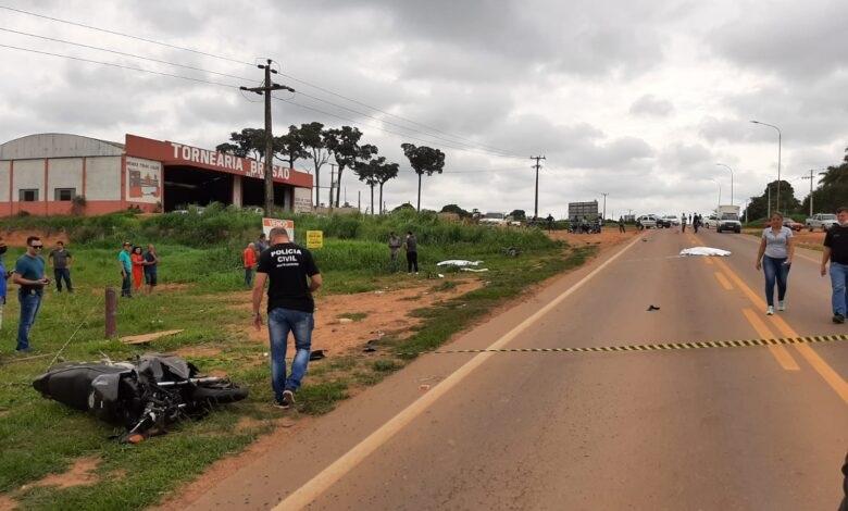 Dois morrem em acidente envolvendo motos na MT-208